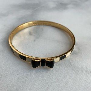 Kate Spade striped bow bracelet bangle